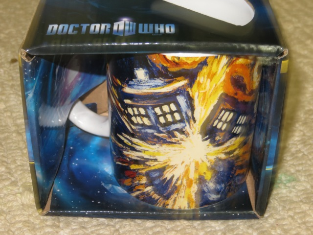 Exploding Tardis Mug from Newbury Comics. It was around $11.